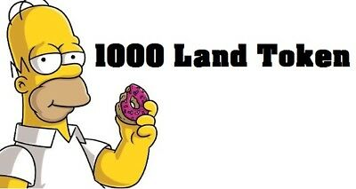 Simpsons Tapped out - 1000 Land Token