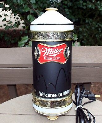 Miller Beer Motion Bouncing Ball Wall Light Bar Sconce Very Nice Works 1984