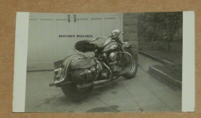Vintage Photo Of A Harley Davidson  Back Of Photo Is Written 41-61 Small Photo