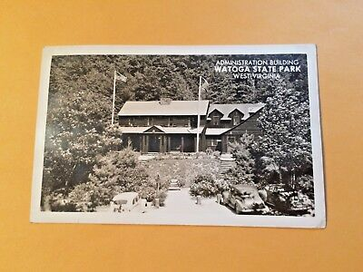 1950's RPPC ADMINISTRATION BUILDING WATOGA STATE PARK WV  345