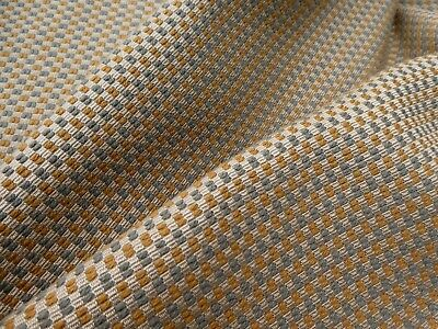 KNOLL Vintage Mid Century Fabric Woven Upholstery Wool Blend MCM Gold Gray Beige
