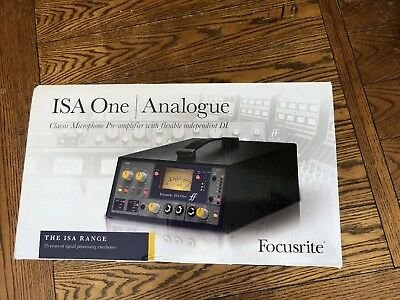 Focusrite ISA One Analogue Single Channel Microphone Preamplifier New In Box!