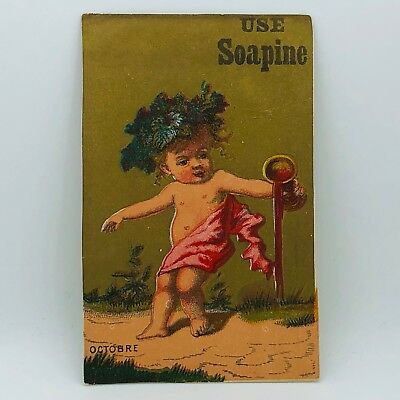 Victorian Trade Card Soapine For Washing & Cleaning Everything B-47