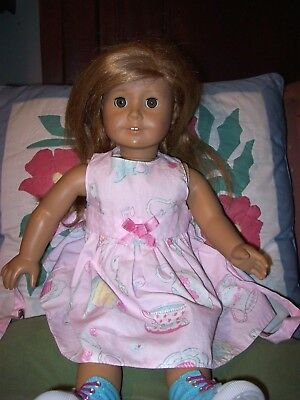 18 American Girl Doll Mia St Clair With Red Blond Hair Green
