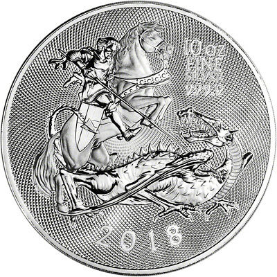 2018 Great Britain Silver 10 oz. Valiant £10 - BU in Royal Mint Capsule