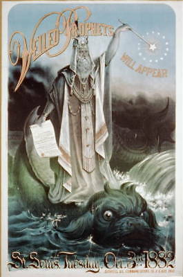 Veiled Prophet will appear,St. Louis,Tuesday,Oct. 3rd,1882,sea monster,Merlin
