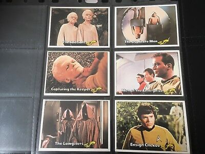 1976 Scanlens Star Trek Captains Log Trading Cards