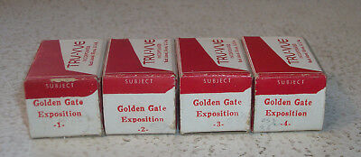 Tru-Vue Film Rolls 1939 Golden Gate San Francisco Exposition Complete Set 1 - 4