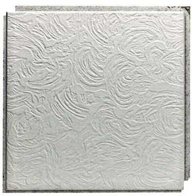 """Usg Ceiling Tile 12 """" X 12 """" X 1/2 """" New Orleans Style Tongue Groove Wood Fibe"""