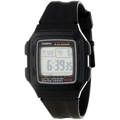 Casio F201WA-1A Brand New Men's Black Resin Sports Digital Dial 10 Yr Batt Watch
