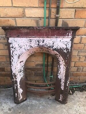 Cast Iron fireplace Vintage Rustic Fire Front Steel Metal Mantle