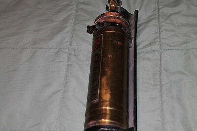 1 Qt. Brass BUFFALO SUPER Fire Extinguisher with holder
