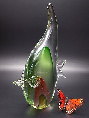 Angelfish Paperweight Blown Art Glass Figurine Mystery Artist Studio Murano Styl
