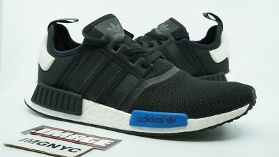 56b1c7ead4e58 ADIDAS NMD RUNNER Used Size 13 Tokyo Black Blue S79162 Boost Yeezy ...