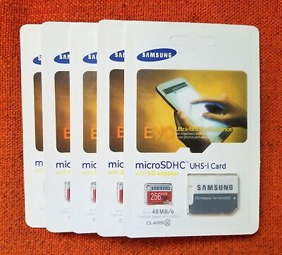 Lot of 2 Samsung Evo Ultra 256GB MicroSDXC UHS-1 Class 10 Micro SD Memory Card