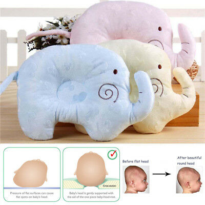 Baby Infant Newborn Memory Foam Pillow Prevent Flat Head Anti Roll Support AU