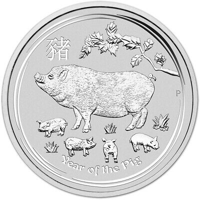 2019 P Australia Silver Lunar Year of the Pig 1 oz $1 - BU
