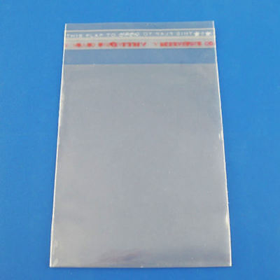 200 Clear Self Adhesive 7cm x 13cm Peel and Seal Plastic Bags for Small Obj V4Q3