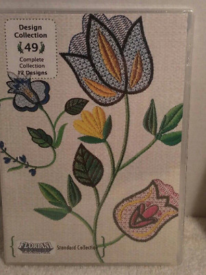 Cd By Floriani With  12 Flower  Designs Called Design Collection #49