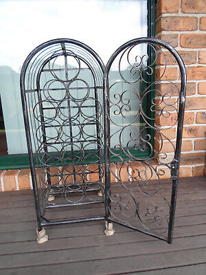 Elegant 18 Bottle Metal Wine Cabinet Rack Stand Organicer Holder Flor Standing
