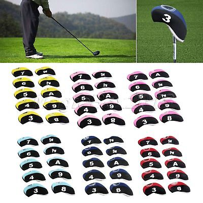 10X Golf Iron Head Cover Headcovers for Taylormade Ping Mizuno Titleist Callaway