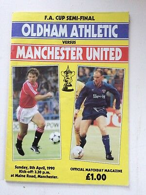 Oldham Athletic v Manchester United 1989-90 (FA Cup semi-final, Maine Road)