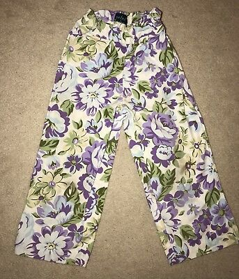 Mini Boden Floral Wide Leg Trousers Age 3-4 Years