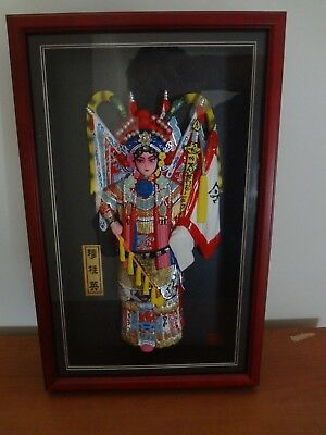 chinese fan, boxed framed dancers, doll, four scrolls  collectables