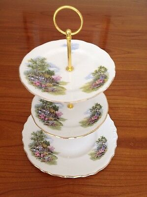 Royal Vale Cottage cake stand 3 tier. Cottage Garden. 🏡🏡