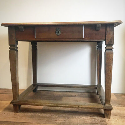 Antique French Fruit Wood Side Table