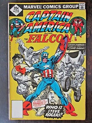 Marvel.  Captain America.  No.215.  Nov. 1977. The Falcon.   Cents.