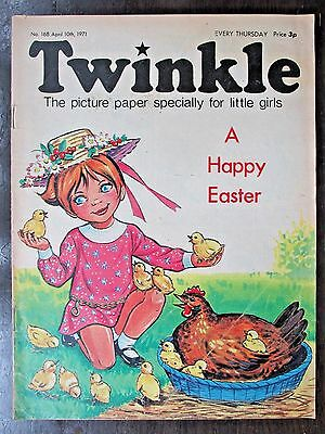 TWINKLE COMIC.  NO.168  APRIL 10th .1971.  HAPPY EASTER ISSUE!