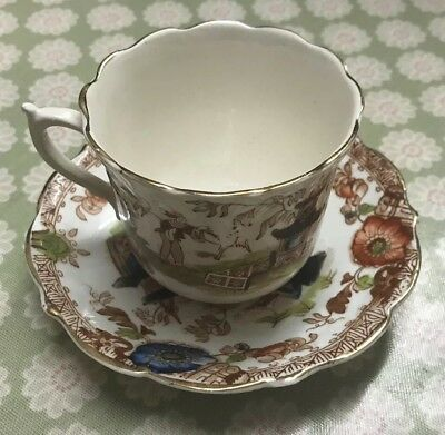 Vintage Antique Japanese Chinese Tea Cup and saucer hand Painted