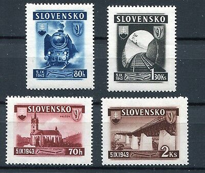 Slovakia Ww2 German Puppet State 1943 New Railway Scott 89-92 Perfect Mnh