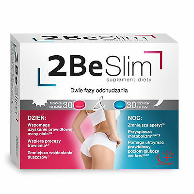 Free Delivery! Day & Night 2-BE SLIM Weight Loss System 60 tablets Supplement