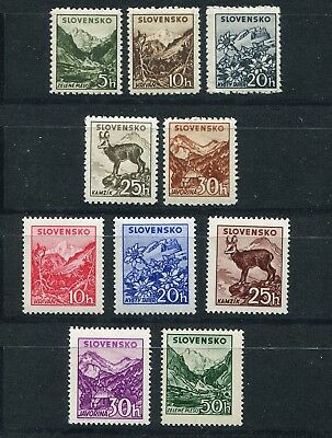Slovakia Ww2 German Puppet State Small & Large Tatras 45-49/103-107 Perfect Mnh