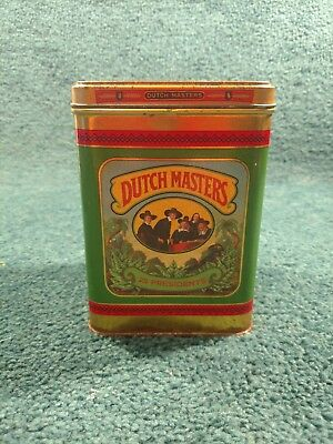 Dutch Masters 25 Presidents Cigar Tin Box Metal Container Empty