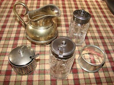 Collection of small silver plated items, mainly tableware - 6 pcs