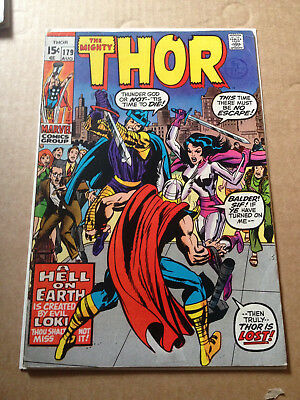 Thor # 179 - Last Jack Kirby Issue / Bright Cents - Marvel 1970