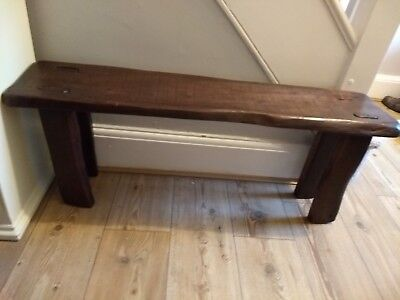 Oak antique pig bench rustic farmers country kitchen hall coffee table