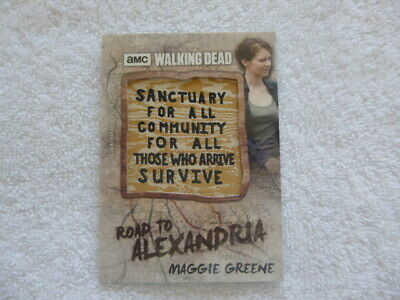 The Walking Dead Road to Alexandria Maggie Greene Sanctuary Sign Patch Card P-LC
