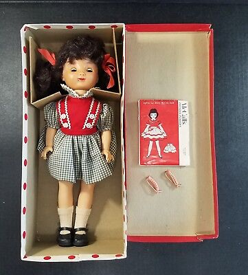 Vintage 1950s Official Ideal Betsy McCall Doll w/ Box & Apron Pattern