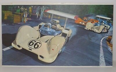 The Checkered Flag RACING PRINT William J Sims 1967 Can-Am Series Bruce McLaren