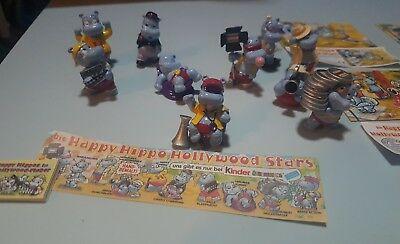 Happy Hippo Hollywood Stars Komplettsatz mit Puzzle 1997