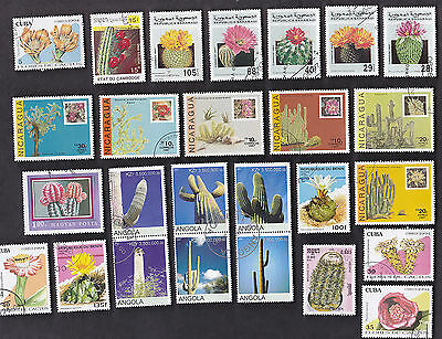 35 All Different Cacti On Stamps ( Cactuses, Cactus)