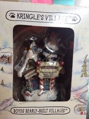 Boyds Kringle's Village Scratch-N-Patch North Pole Hospital Ornament - numbered