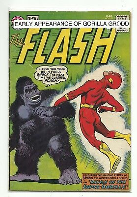 (1959 Series) Dc Flash #127 Early Gorilla Grodd Appearance Silver Age - Vg