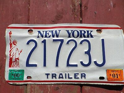 New York Statue of Liberty license plate for trailer #21723J