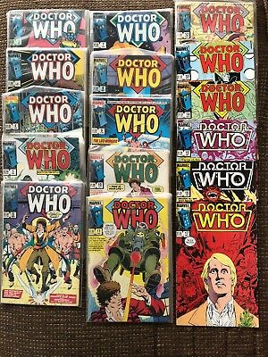 Marvel Doctor Who Comic Book Lot #2-20