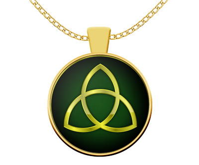 Triquetra  necklace - trinity symbol Pagan Celtic Norse mythology Wicca gift